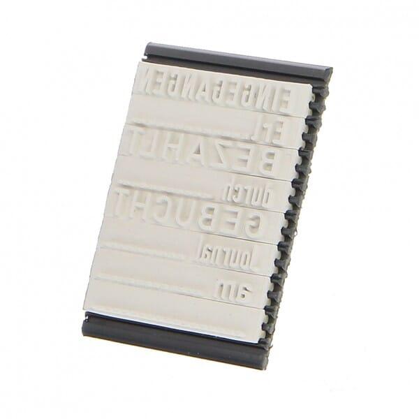 Textplattenset für 5430/L bei Stempel-Fabrik