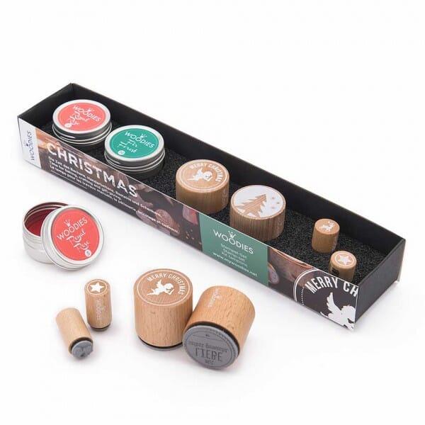 Woodies Stempel SET - Weihnachten WS0007 bei Stempel-Fabrik