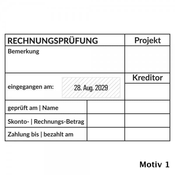 Kontierung- Buchhaltung Trodat Professional 54110 (85x55 mm)