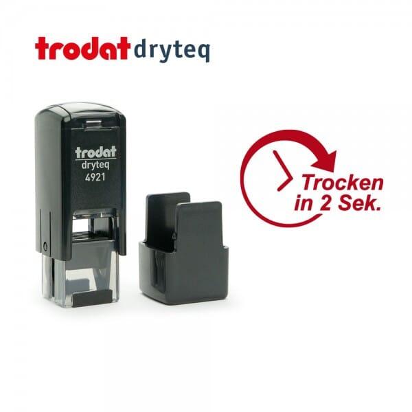 Trodat dryteq Multi-Oberflächen Stempel 4921 (12x12 mm - 2 Ersatzkissen)