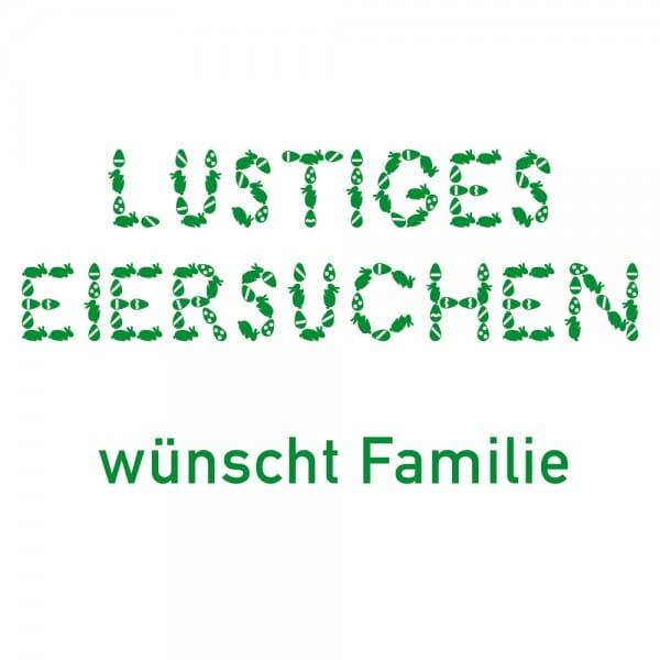 Ostern Holzstempel - Lustiges Eiersuchen (40x30 mm)