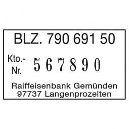 Reiner Paginierstempel D28bN (35x20 mm - 6 stellig)