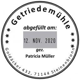 Colop Platten-Datumstempel P 700/34 (ø44 mm - 8 Zeilen)
