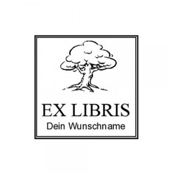 Exlibris Holzstempel / Selbstfärber Colop Q 43 (40x40 mm - 2 Zei bei Stempel-Fabrik