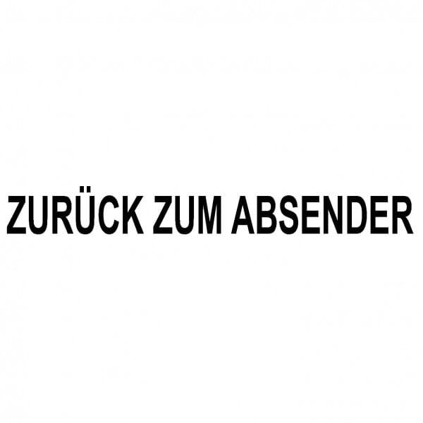 Holzstempel ZURÜCK ZUM ABSENDER (60x10 mm - 1 Zeile)
