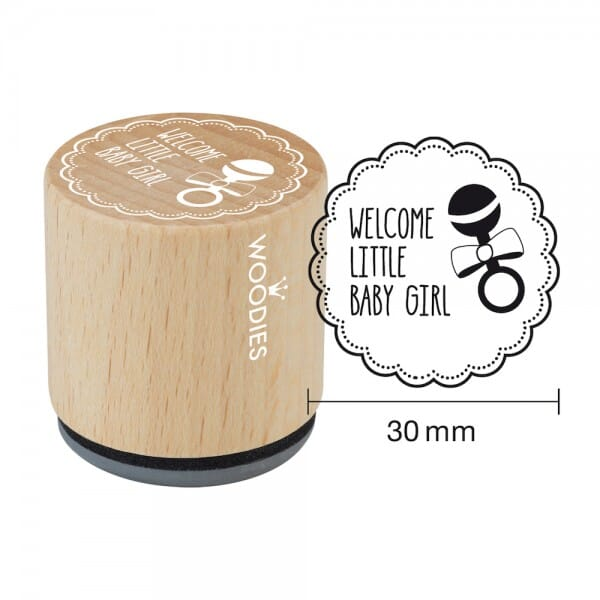 Woodies Stempel - Welcome little baby girl W06001