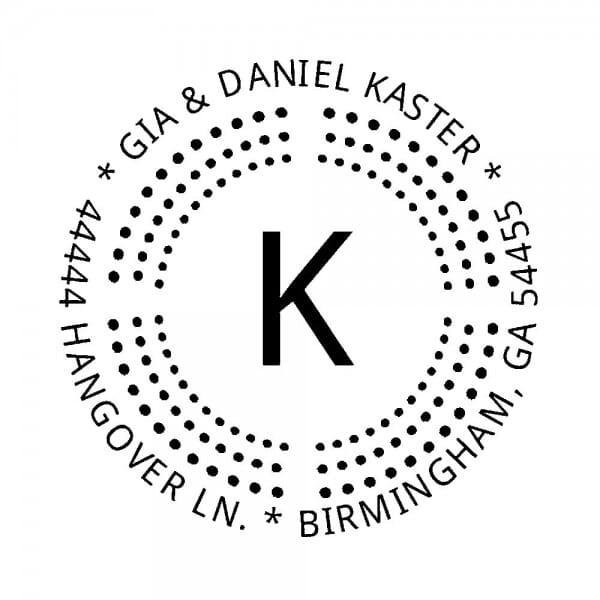 Monogrammstempel rund - Siegel mit Punkten
