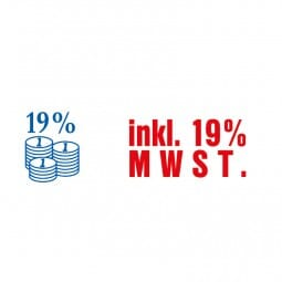 "AKTION - Trodat Office Printy Textstempel ""Inkl. 19% MWSt."" 4912 (47x18 mm)"