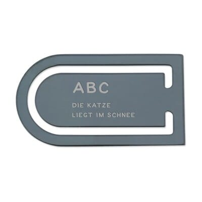 SALE - Lesezeichen aus Aluminium (Gravurmaß 30x10 mm)