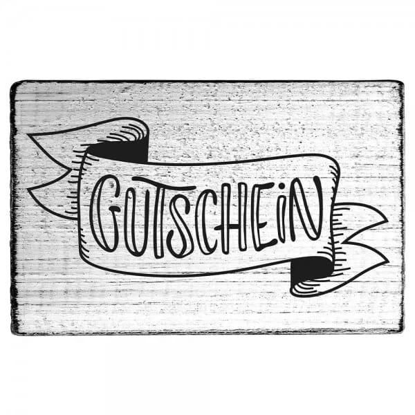 """Vintage Stempel """"Gutschein"""""""