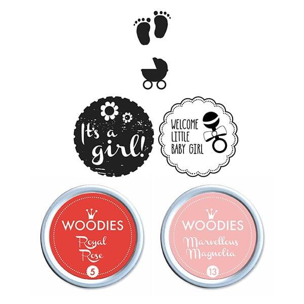 Woodies Stempel SET - Baby Girl WS0008