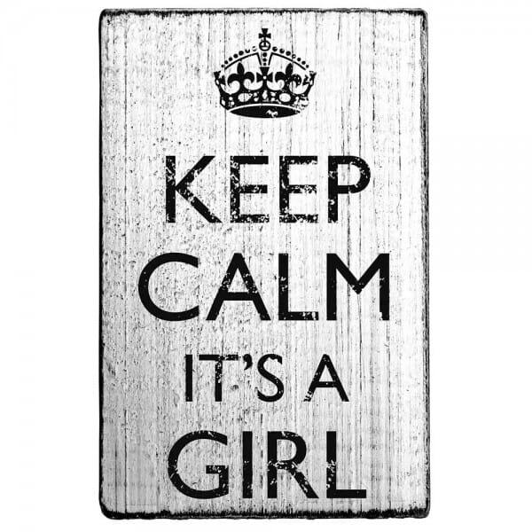 "Vintage Stempel ""Keep calm it´s a girl"""