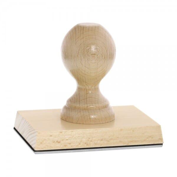 Holzstempel (110x80 mm - 16 Zeilen)