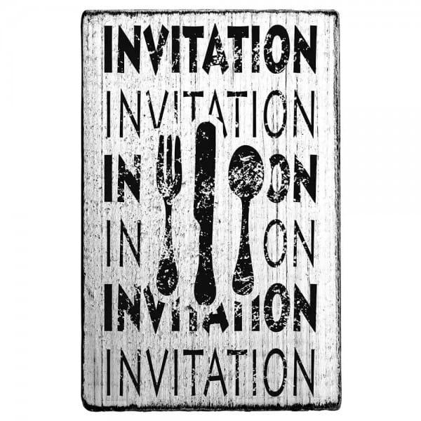 "Vintage Stempel ""Invitation""- Besteck 2"
