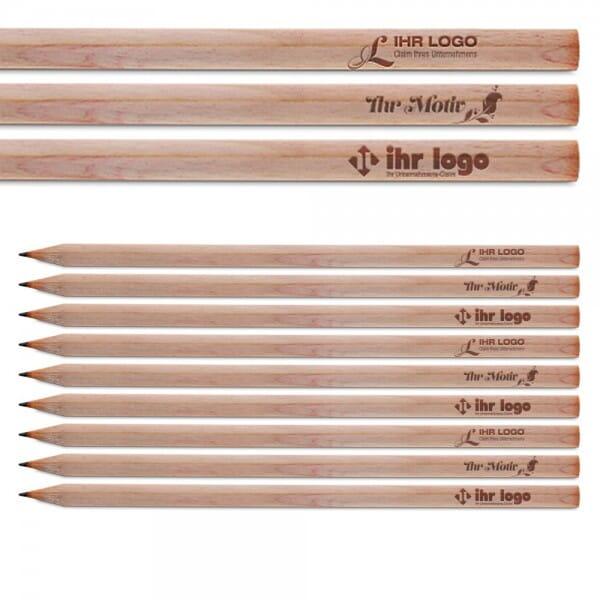 Bleistifte ab 25 Stück (Gravurmaß 80x5 mm)