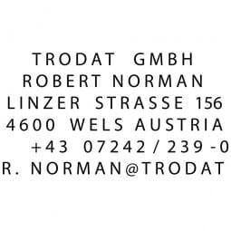 Trodat Professional Typomatic 5253 (49x28 mm - 6 Zeilen)