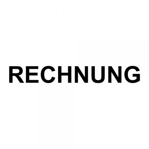 Holzstempel RECHNUNG (40x10 mm - 1 Zeile)