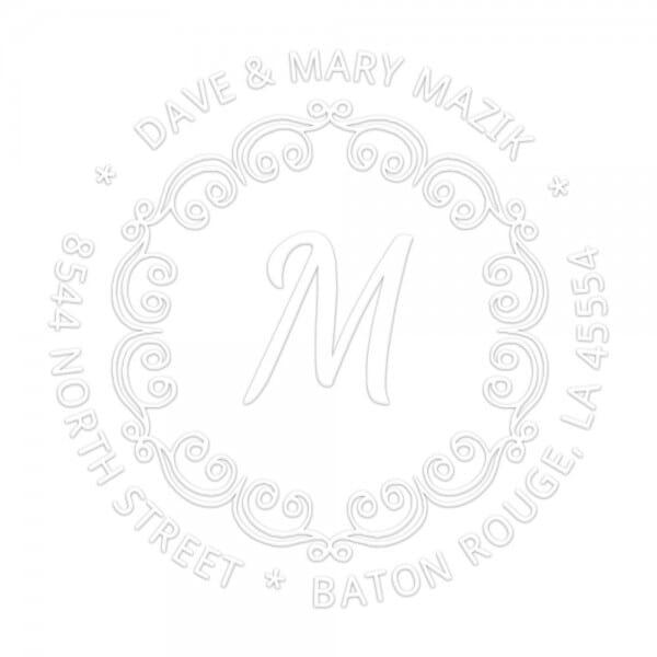 Monogramm-Prägezange 51 mm rund - Dekorative Initialen