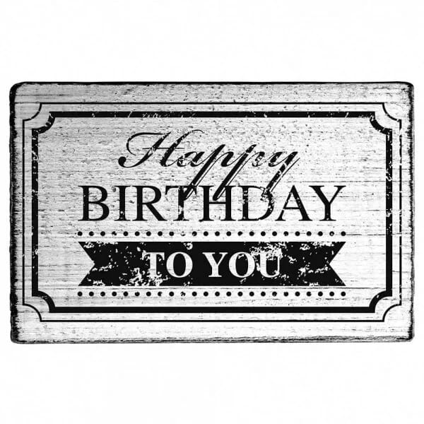 "Vintage Stempel ""Happy Birthday to you"" Rahmen"