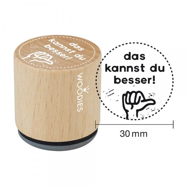 Woodies Stempel - Das kannst du besser! W13007