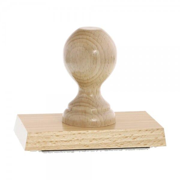Holzstempel (120x70 mm - 14 Zeilen)