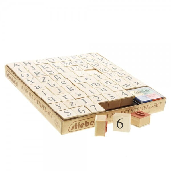 SALE - Alphabet-Set mit Groß- und Kleinschreibung bei Stempel-Fabrik