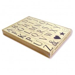 SALE - Riesen Alphabet Stempel-Set