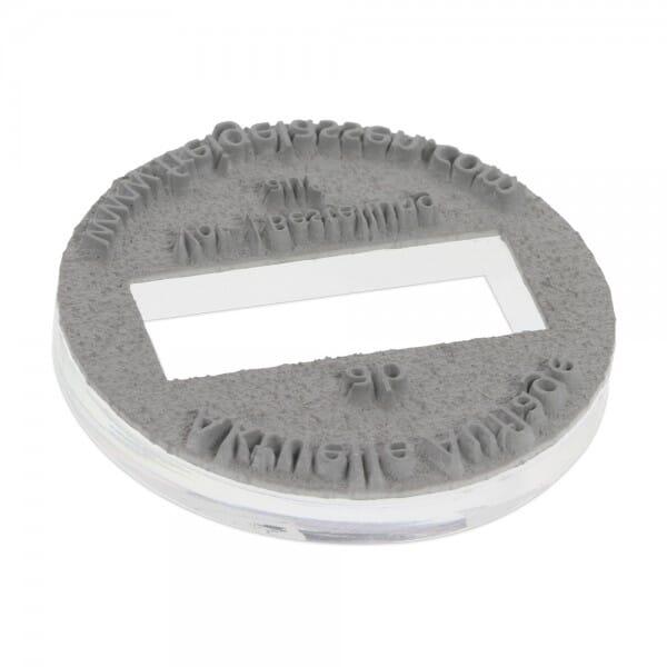 Textplatte für Trodat Printy 46145 (ø 45 mm - 6 Zeilen) bei Stempel-Fabrik