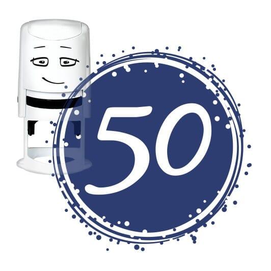 NIO Stempelmotiv - birthday 50-badge