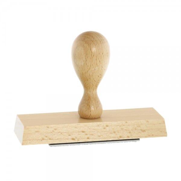 Holzstempel (120x40 mm - 8 Zeilen)