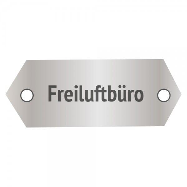 Bankschild aus Aluminium (Gravurmaß 45x18 mm - 2 Zeilen)