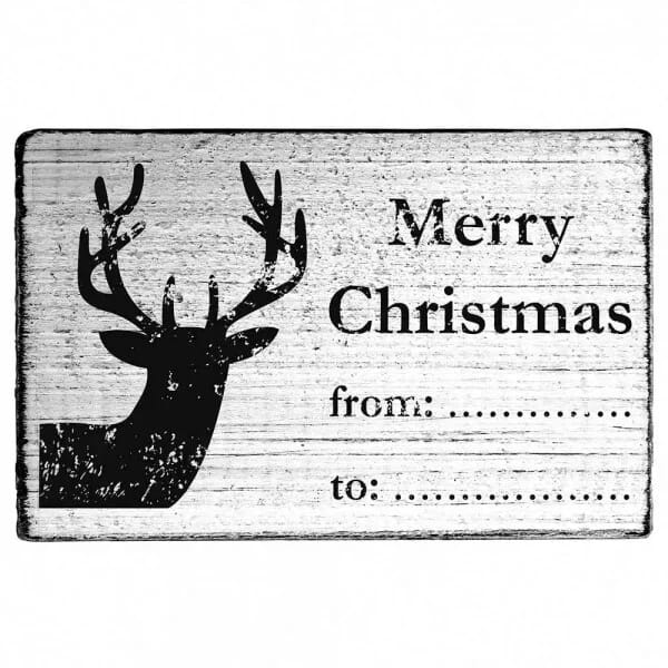 "Vintage Stempel ""Merry Christmas"" - from...to.."