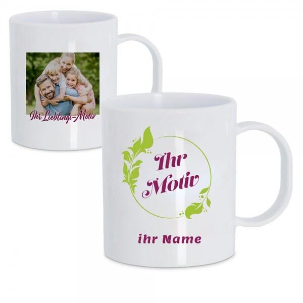 Kunststoff Tasse individuell bedruckt (70x70 mm)