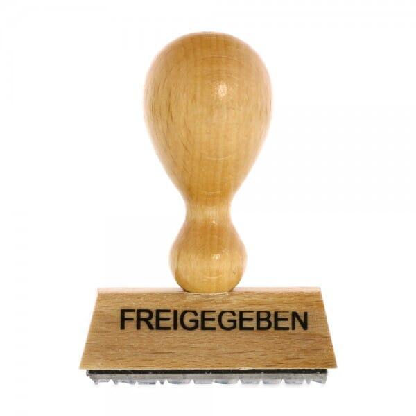 Holzstempel FREIGEGEBEN (50x10 mm - 1 Zeile)