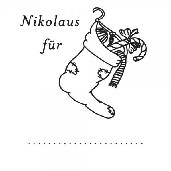 Weihnachten Holzstempel - Nikolaus (50x50 mm)