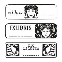 Exlibris - Holzstempel (70x20 mm)
