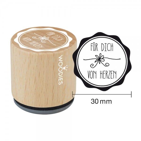 Woodies Stempel - Für Dich von Herzen bei Stempel-Fabrik
