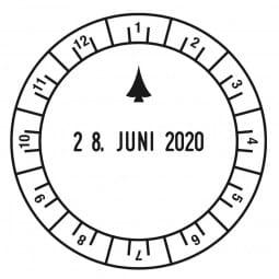 Trodat Classic Uhrzeitstempel 2910/U1-12 (ø 50 mm)