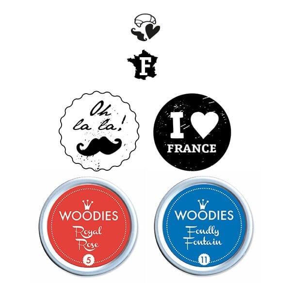 Woodies Stempel SET - Frankreich WS0016