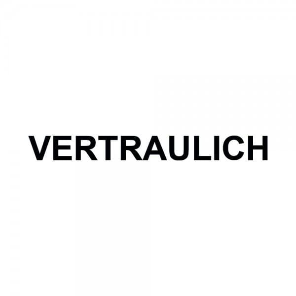 Holzstempel VERTRAULICH (50x10 mm - 1 Zeile)