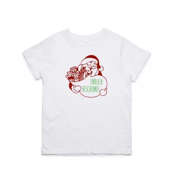 """Kinder T- Shirt """"Endlich Geschenke"""""""