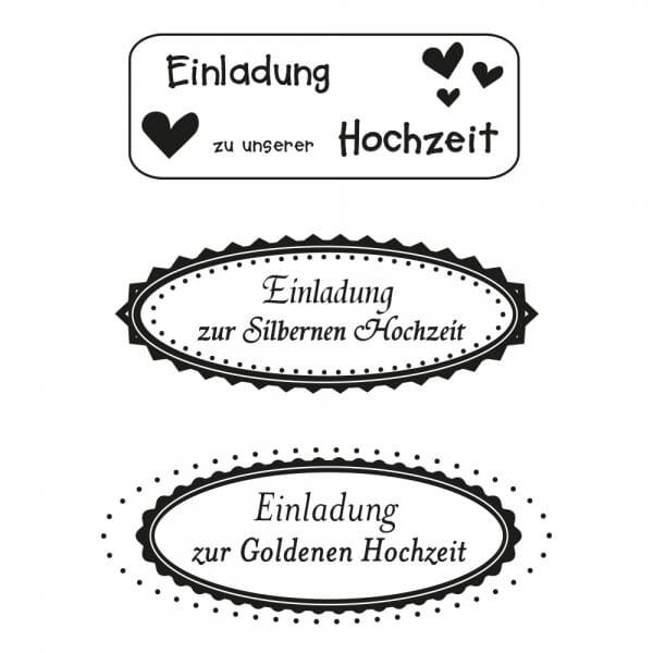 Hochzeit - Einladung (60x30 mm)