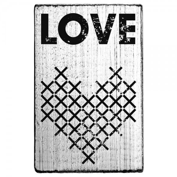 """Vintage Stempel """"Love"""" - Herzen"""