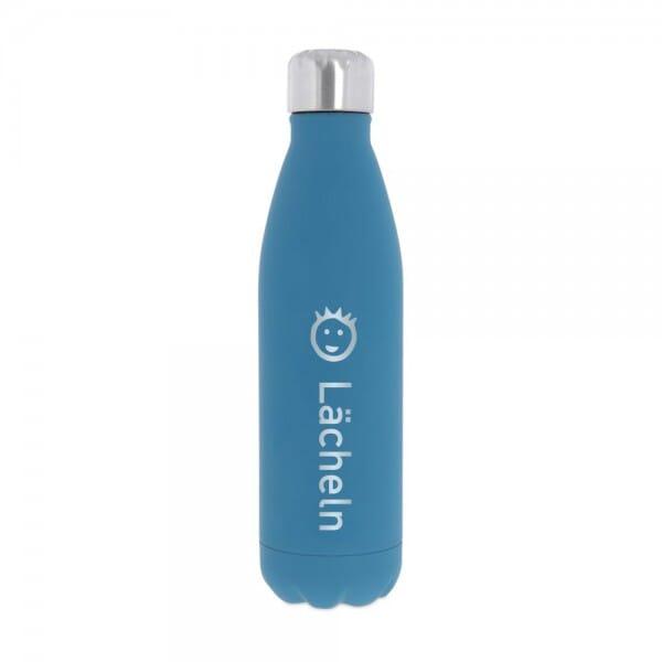 """SALE - Isolierte Trinkflasche aus Edelstahl """"Lächeln"""" (Gravurmaß 11x8 cm)"""