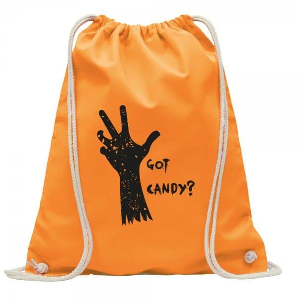 """Turnbeutel-Rucksack Halloween """"Got candy?"""""""