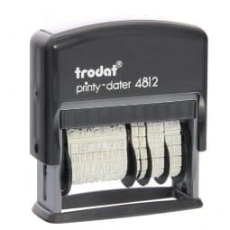 Trodat Printy 4812 Dater und Wochentagen( 25x3,8 mm)