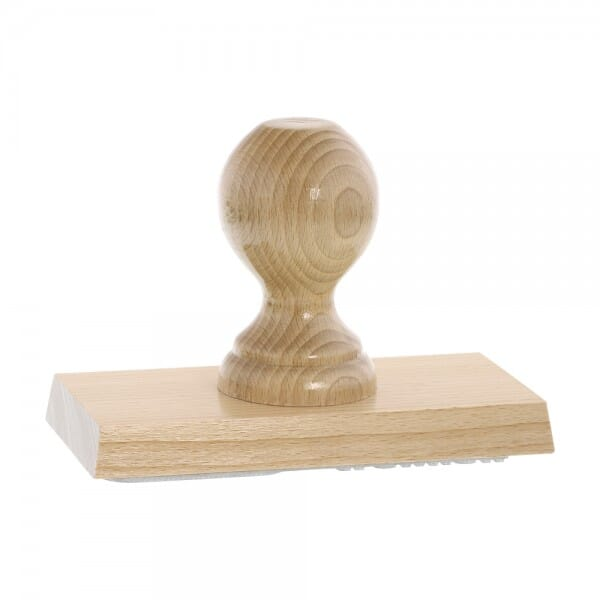 Holzstempel (140x70 mm - 14 Zeilen)