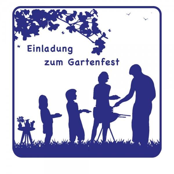 Feierlichkeiten Holzstempel - Gartenfest (50x50mm)