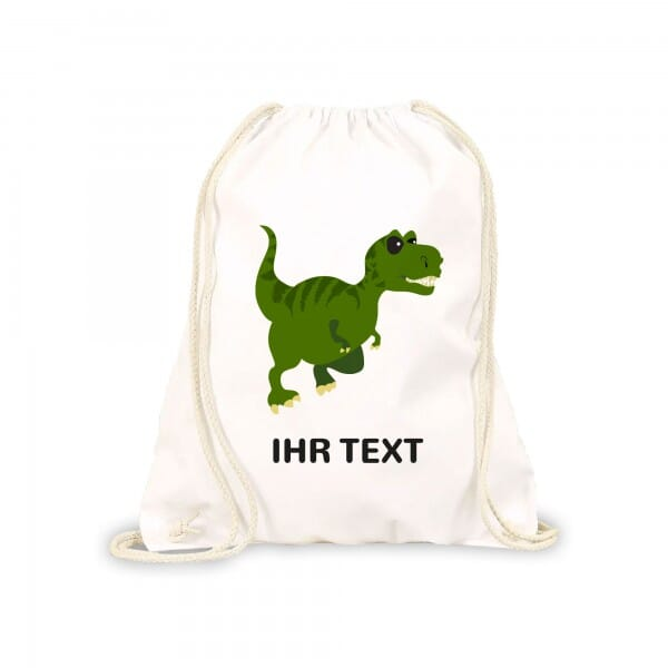 "Kinderrucksack &Turnbeutel ""Dinosaurier"" inkl. individueller Druck"