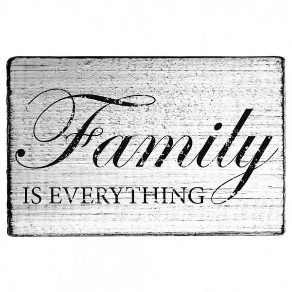 "Vintage Stempel ""Family is everything"""